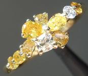 SOLD...0.70ctw Multi Colored Diamond Ring R8517