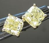 1.50ctw Yellow VS Cushion Cut Diamond Earrings R8728