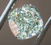 SOLD...1.02ct Green VS1 Cushion Cut Diamond R8766
