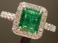 SOLD....0.80ct Emerald Cut Emerald Ring R8707