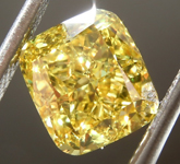 3.00ct Vivid Yellow SI1 Cushion Cut Diamond R8789