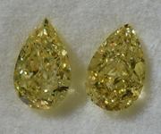 SOLD.....2.04ctw Yellow I1 Pear Shape Diamond Earrings R8795