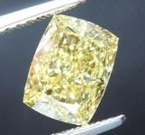 SOLD....1.71ct Yellow SI2 Cushion Cut Diamond R8803