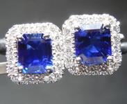 SOLD.....1.75cts Blue Emerald Cut Sapphire Earrings R8773