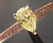 0.56ct Yellow SI2 Pear Shape Diamond Ring R8641