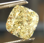 1.67ct Yellow VS1 Cushion Cut Diamond R8831