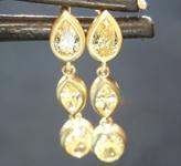 0.74ctw Yellow Diamond Earrings R8799