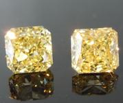 1.10ct Yellow VVS2 Radiant Cut Diamond Earrings R8833