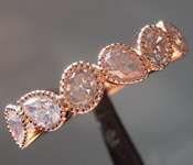 SOLD....0.65ctw Fancy White Oval and Pear Shape Diamond Ring R8575