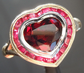 SOLD....1.50ct Garnet Heart Shape Ring R8541