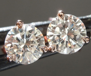 0.93ctw F VS Round Brilliant Diamond Earrings R8818