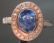 SOLD...1.16ct Blue Oval Sapphire Ring R8812
