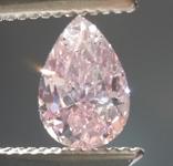 0.70ct Pink SI2 Pear Shape Diamond R8868