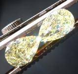 2.02ctw Yellow Pear Shape Diamond Earrings R8894