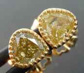 0.98ctw Yellow VS Pear Shape Diamond Earrings R8638