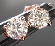 0.57ctw G-H VS1 Round Brilliant Diamond Earrings R8676