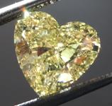 2.07ct Intense Yellow I1 Heart Shape Diamond R8970
