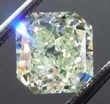 1.27ct Green VS2 Radiant Cut Diamond R8968