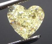 SOLD.....1.12ct Yellow Heart Shape Diamond R8988