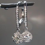 SOLD....0.84ctw Colorless Round Diamond Earrings R8900
