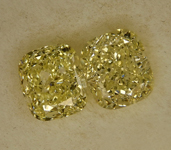 SOLD....2.38ctw Yellow VS Cushion Cut Diamond Earrings R8791