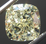 SOLD....3.69ct Light Yellow VS2 Cushion Cut Diamond R9018