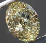 SOLD....4.02ct Light Yellow VVS1 Oval Shape Diamond R9047