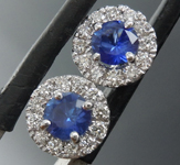 0.50cts Blue Round Brilliant Sapphire Earrings R9007