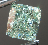 2.02ct Yellowish Green VS2 Cushion Cut Diamond R9058