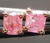 SOLD....0.50ctw Fancy Pink Cushion Cut Diamond Earrings R9052