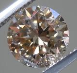 2.26ct Yellowish Brown VS1 Round Brilliant Diamond R9066