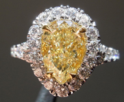 SOLD......2.07ct Y-Z VVS1 Pear Shape Diamond Ring R9082