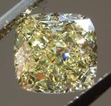 2.00ct VVS2 Fancy Yellow Cushion Cut Diamond R9093