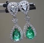 1.65cts Zambian Pear Shape Emerald Earrings R8846
