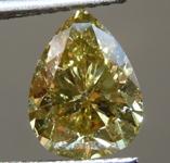 2.02ct Greenish Yellow Pear Shape Diamond R8929