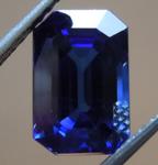 SOLD...2.63ct Blue Emerald Cut Sapphire R9132