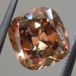 1.36ct Brown I1 Cushion Brilliant Diamond R9143