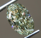 SOLD.....1.24ct Greenish Yellow VS2 Oval Shape Diamond R9135