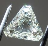 SOLD.....1.01ct L SI2 Triangular Step Cut Diamond R9140