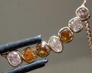 SOLD....1.13ctw Fancy Color Diamond Necklace R9033
