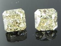 SOLD....3.09ctw Y-Z VS Radiant Cut Diamond Earrings R9147