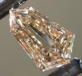 SOLD....1.17ct Brown VS2 Kite Step Cut Diamond R9193