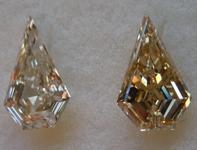 2.05ctw Brown Step Cut Shield Diamonds R9207