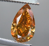 1.06ct Orangy Brown SI1 Pear Shape Diamond R9216