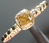 0.43ct Greenish Yellow I1 Radiant Cut Diamond R9182