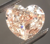 SOLD...0.71ct Brown SI1 Heart Shape Diamond R9233
