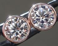 SOLD.....1.72ctw U-V (Brown) VS2 Round Brilliant Diamond Earrings R9218