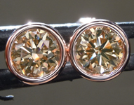 SOLD....1.10ctw Brown VS1 Round Brilliant Diamond Earrings R9195