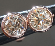SOLD...0.62ctw Brown Round Brilliant Diamond Earrings R9196