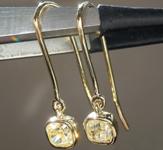 0.81ctw Yellow VS Cushion Cut Diamond Earrings R9010